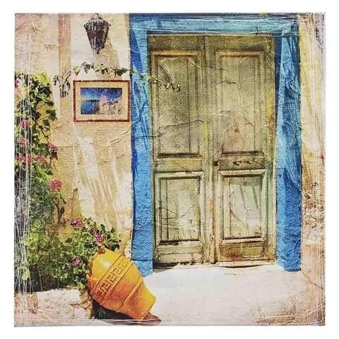 Tablou decorativ, Door, Inart, 55.5x55.5 cm, canvas, multicolor