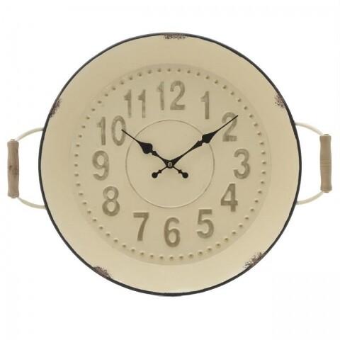 Ceas de perete InArt, 52Χ9Χ43 cm, metalic, Cream