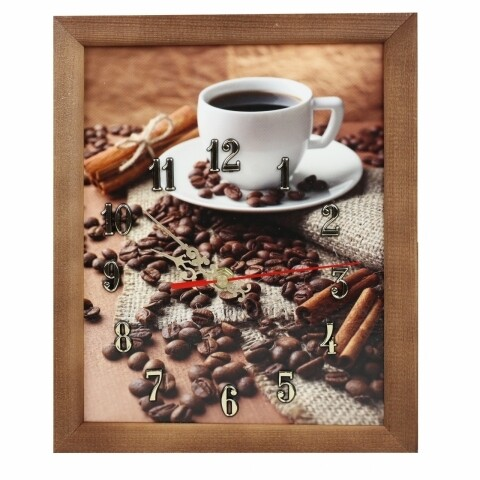 Tablou cu ceas 20x25 cm, Heinner Home, Coffee