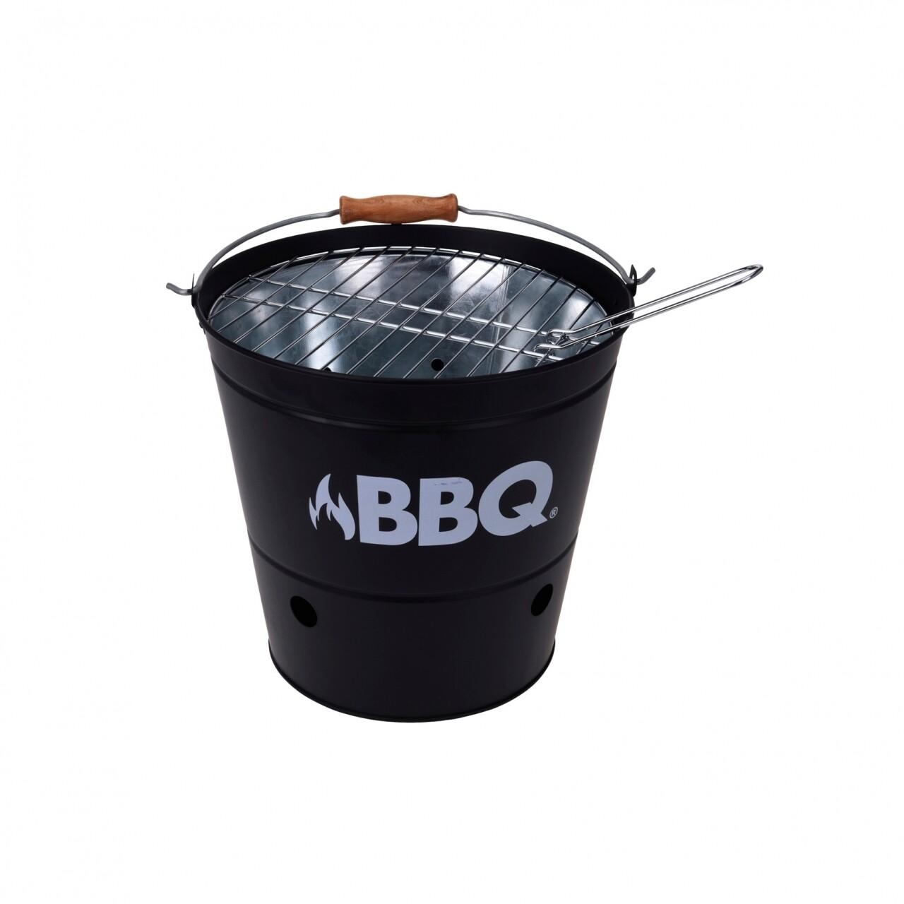 Gratar BBQ Black, 19 x 19 x 25 cm, metal, negru
