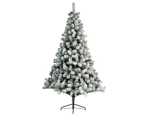 Brad de Craciun cu zapada artificiala, Lumineo, 210 cm, verde/alb