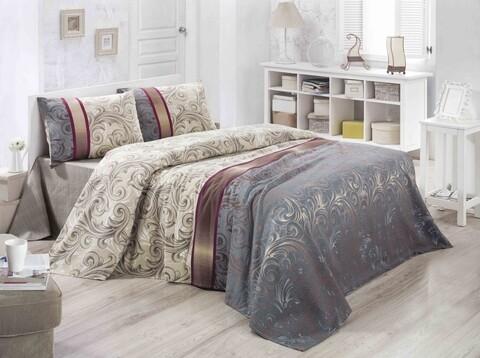 Cuvertura de pat dubla King Size, Victoria, Hurrem FR, 220x240 cm, 100% bumbac, multicolor