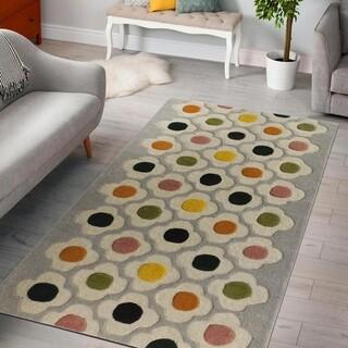Covor Flower Bedora, 200x300 cm, 100% lana, multicolor, finisat manual