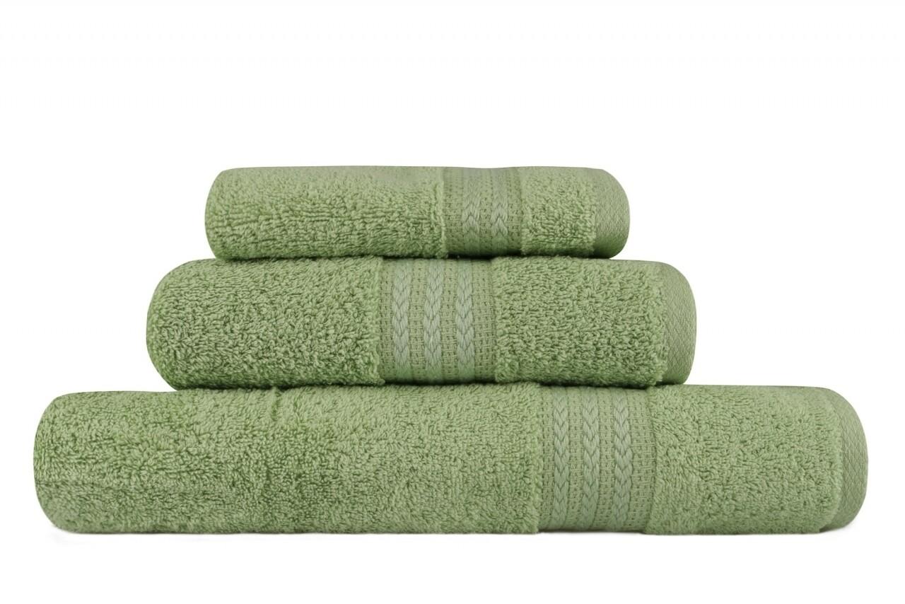 Set 3 prosoape de baie Simplicity, Hobby, 30 x 50 cm/50 x 90 cm/70 x 100 cm, 100% bumbac, verde