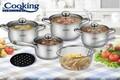 Set pentru gatit Madeline, Cooking by Heinner, 10 piese, inox, argintiu
