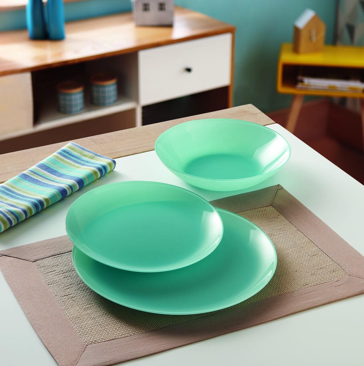 Serviciu de masa 18 piese Arty Soft Blue, Luminarc, opal, bleu