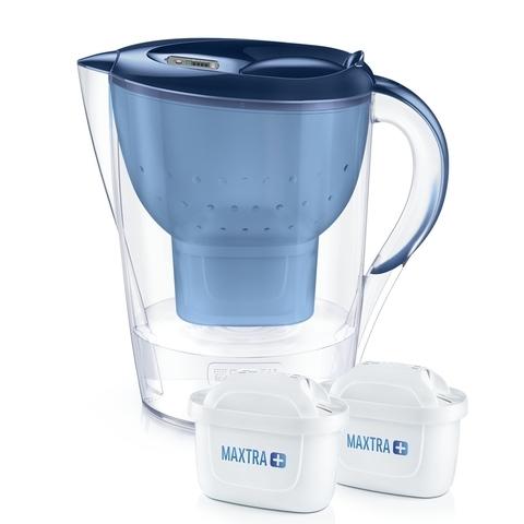 Cana filtranta Brita, Marella XL MAXTRA+, plastic, 3.5 L, + 2 filtre, albastru