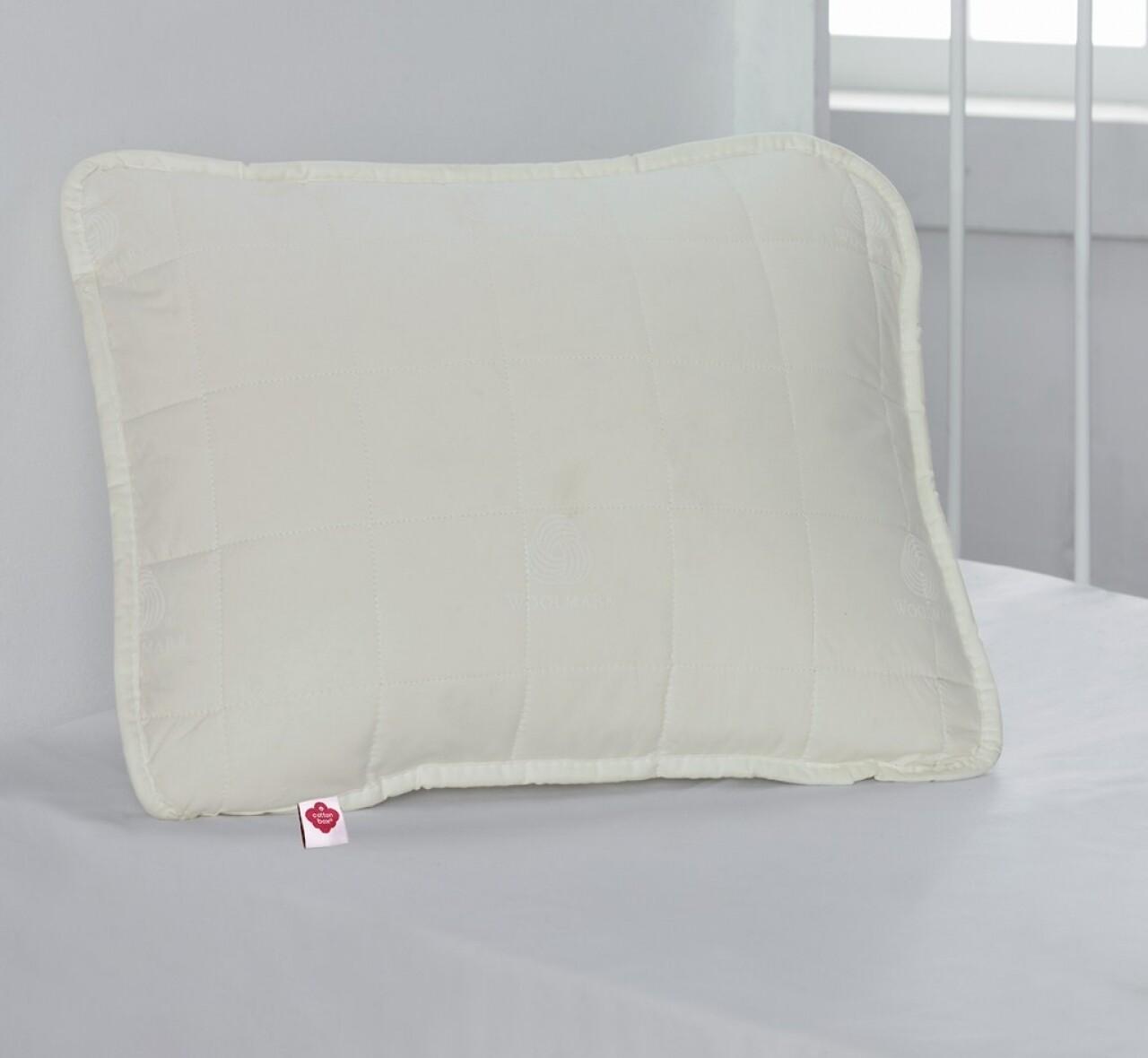 Perna din 100% bumbac satinat, 35x45, Cotton Box, Ecru