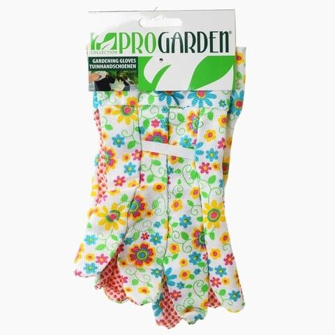 Manusi pentru gradinarit Flower, poliester, multicolor