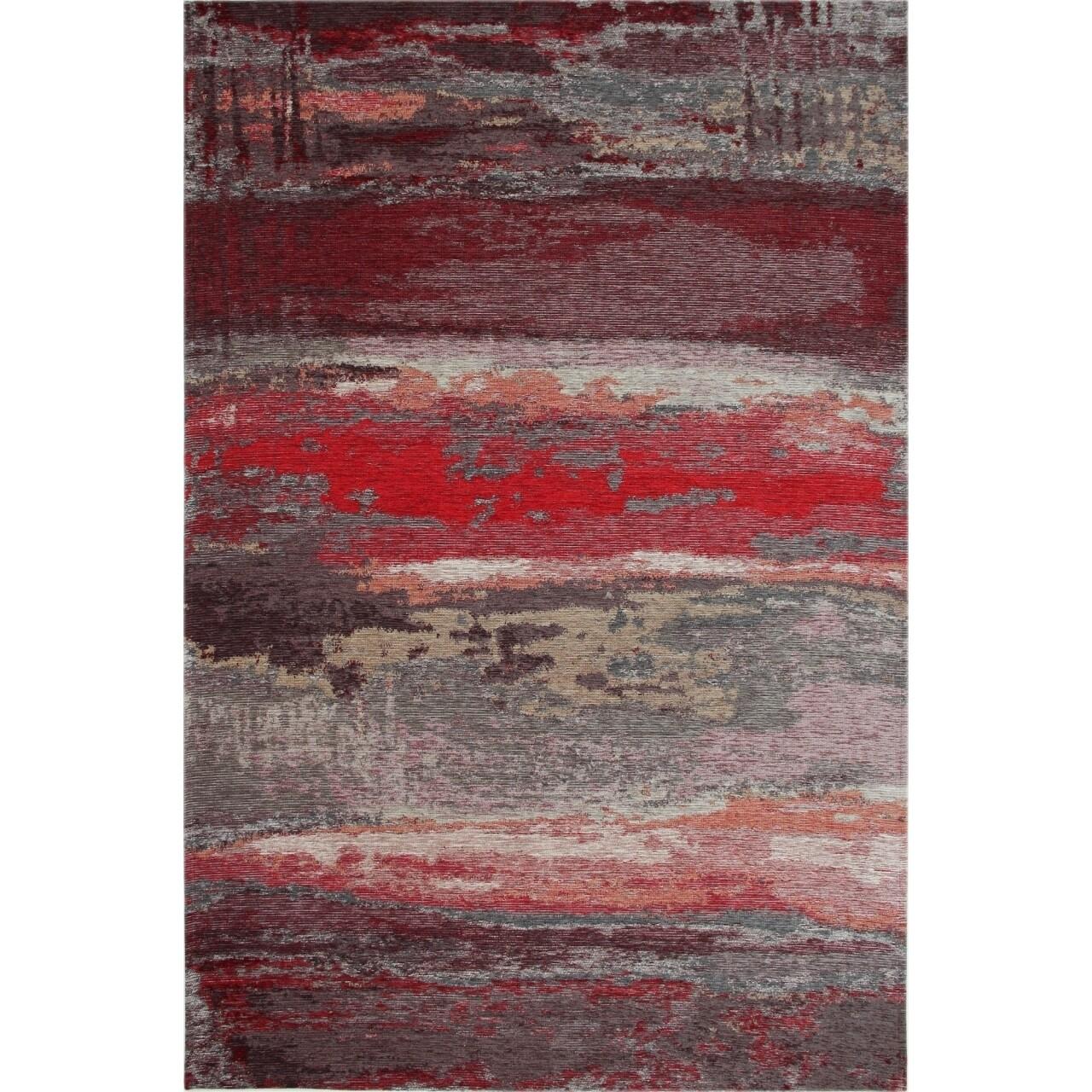 Covor rezistent Eko, SM 12 - Grey, Red XW, 100% acril,  120 x 180 cm