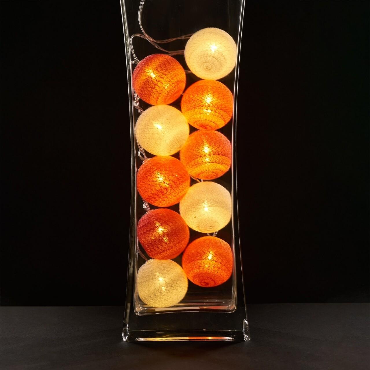 Ghirlanda luminoasa cu 10 LED-uri Orange, Heinner Home, 180 cm, plastic, roz/portocaliu