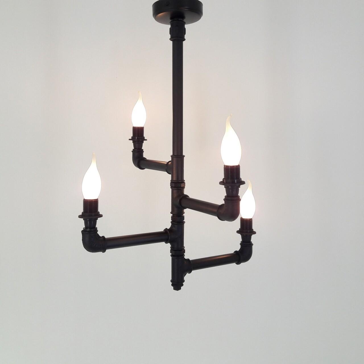 Candelabru All Design, metal, 40x40x60 cm, Mum Black