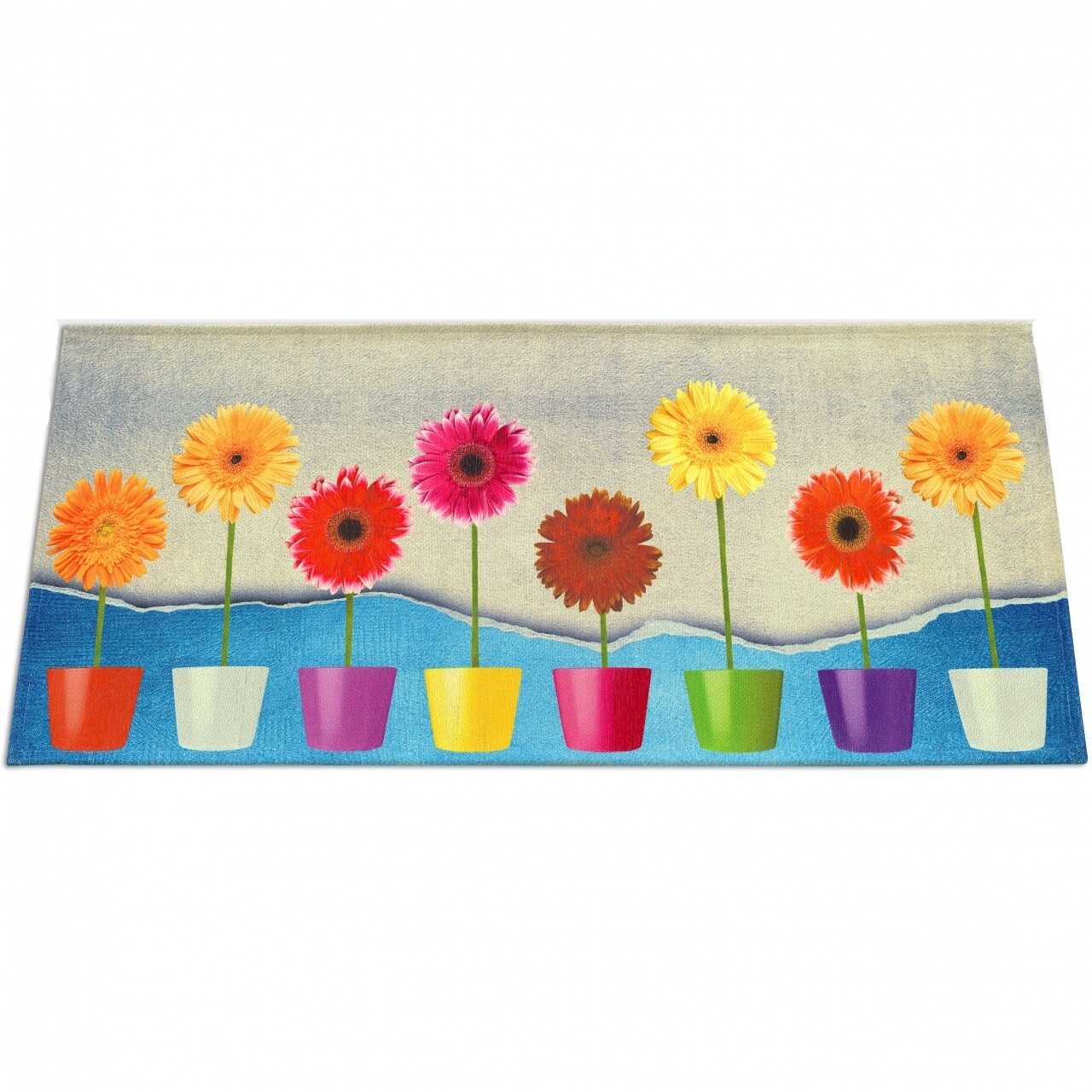 Covor rezistent Webtappeti Flower Power 60 x 190 cm, multicolor