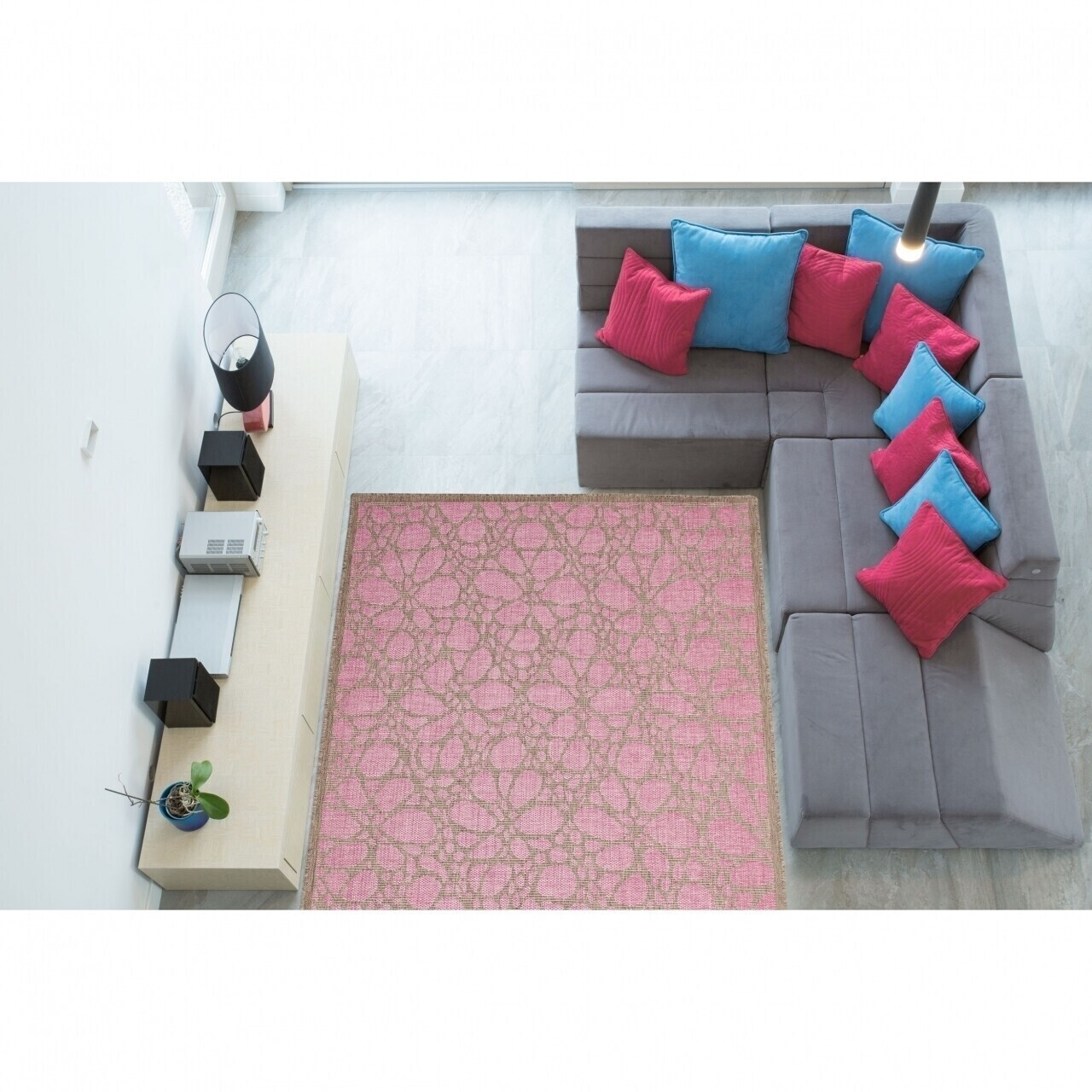 Covor indoor outdoor Floorita FIORE PINK 135X190