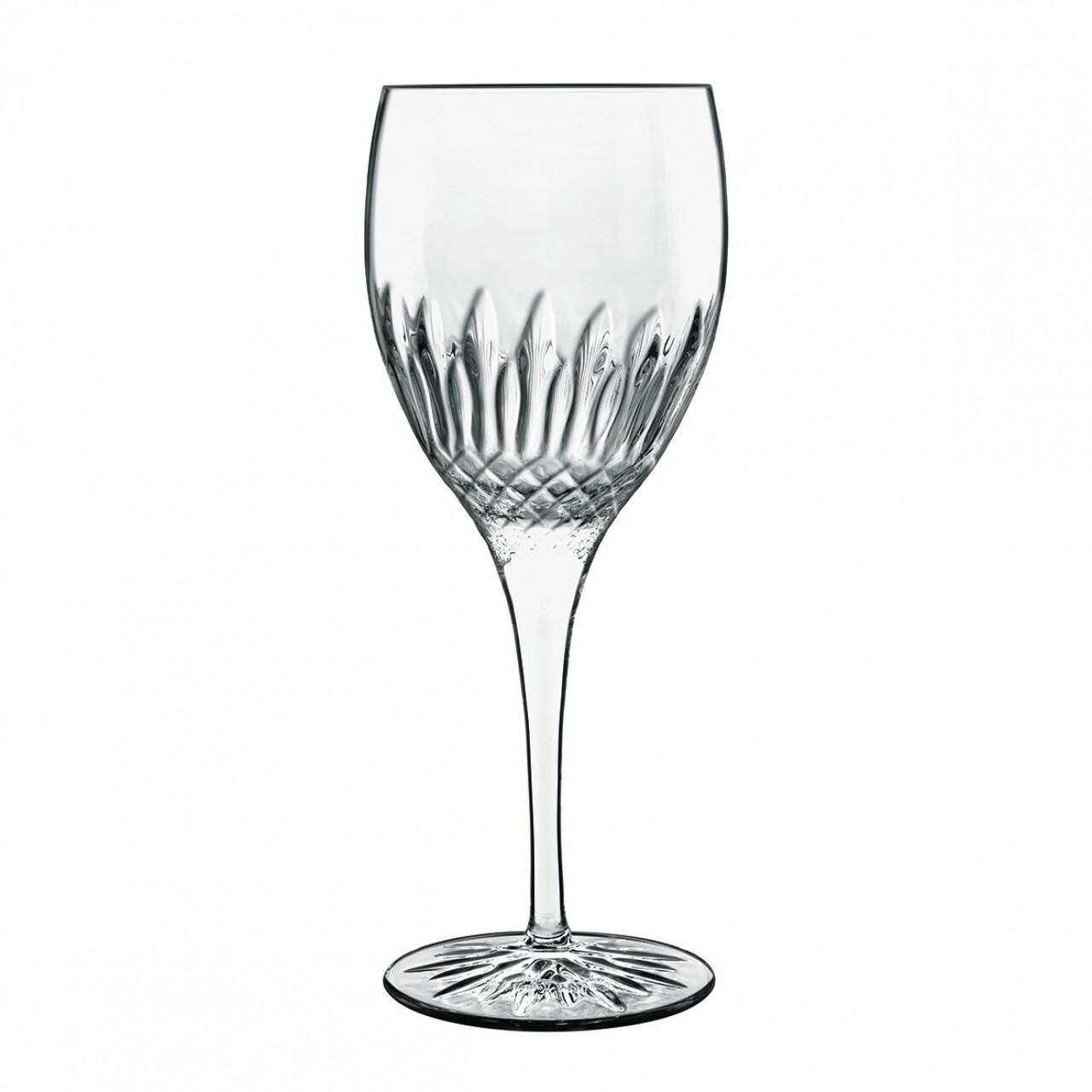 Set 4 pahare sampanie Diamante Riesling, Luigi Bormioli, 354 ml, cristalit, transparent