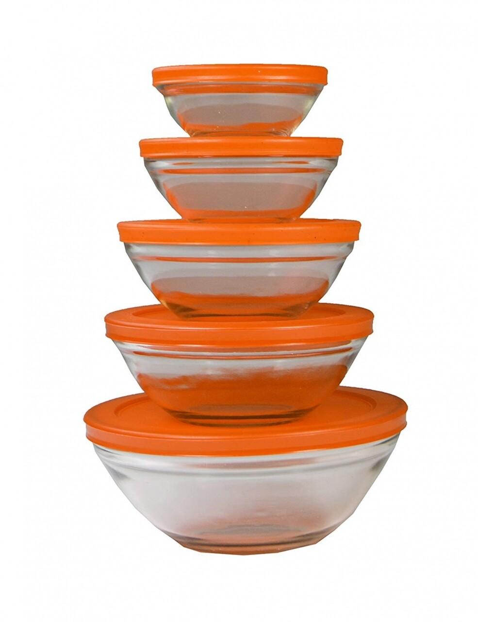 Set 5 caserole de sticlă Jocca Orange Lid