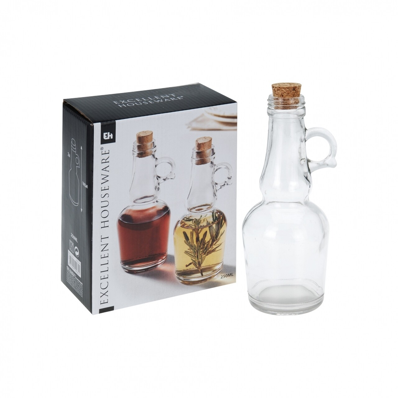 Oliviera cu dop, 21 x 32 x 45 cm, sticla/pluta, transparenta
