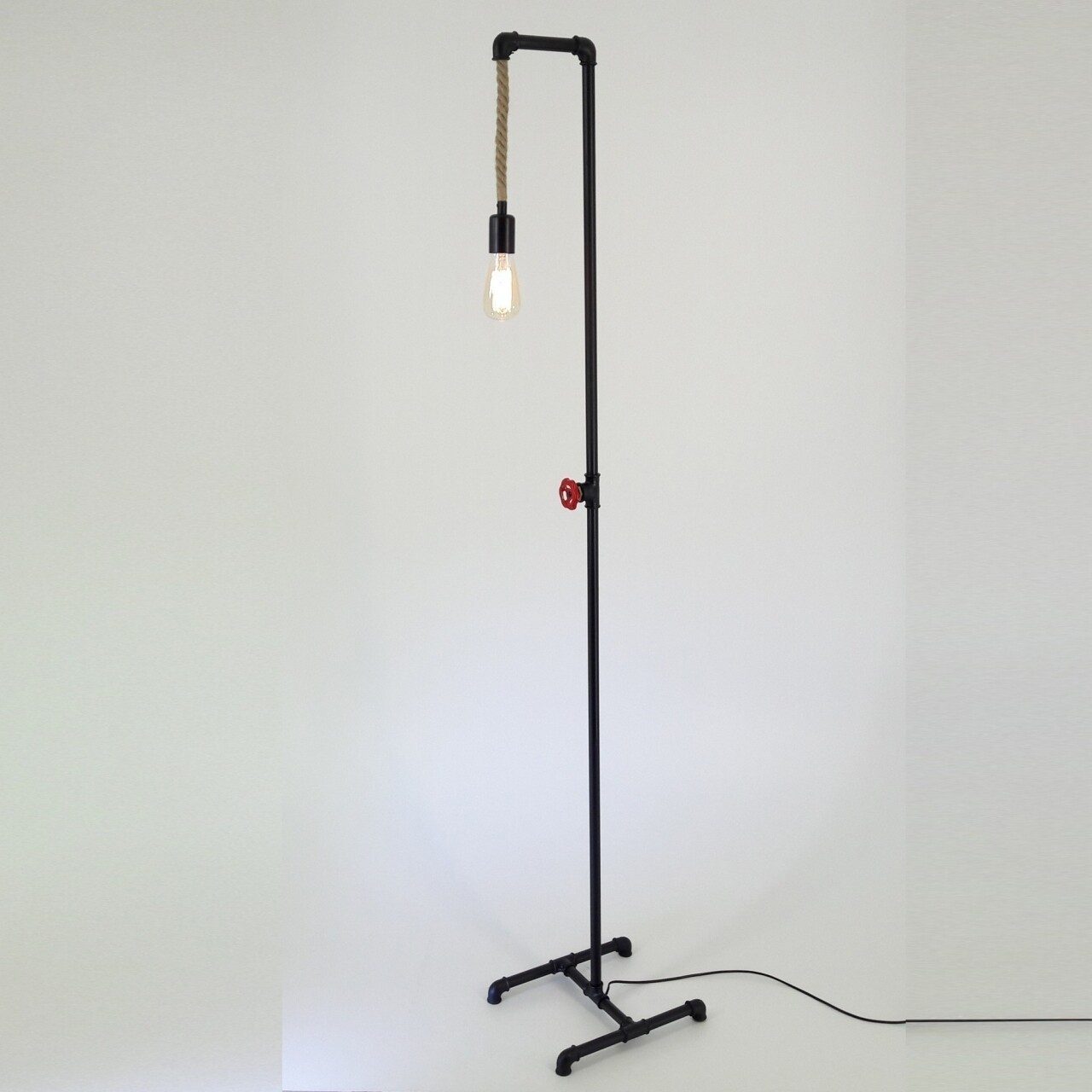Lampadar All Design, metal, 170x36 cm, Double Black