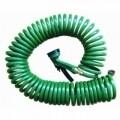 Furtun de gradina spiralat Jocca, 15 m, plastic/metal, verde