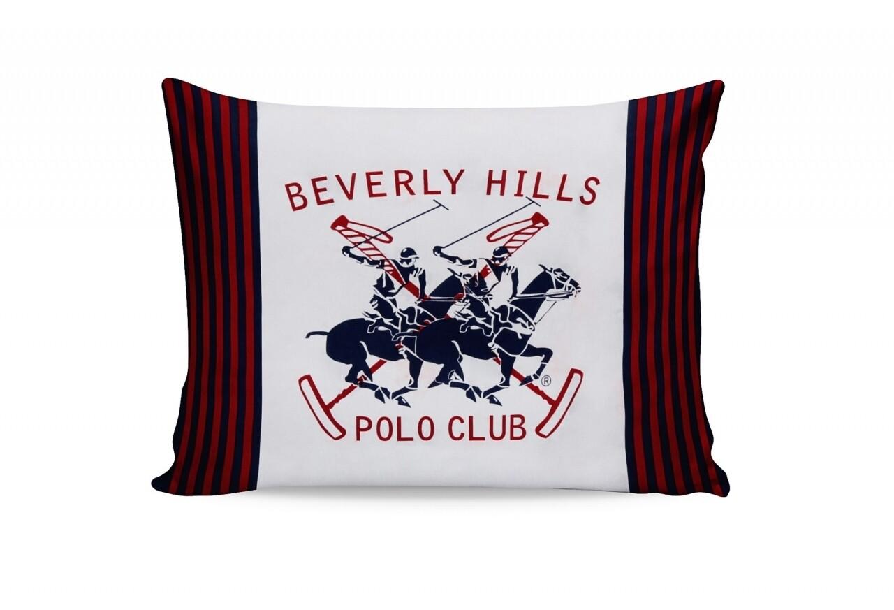 Set 2 fete de perna 50x70, 100% bumbac, Beverly Hills Polo Club, Alb/Bleumarin/Rosu/Portocaliu