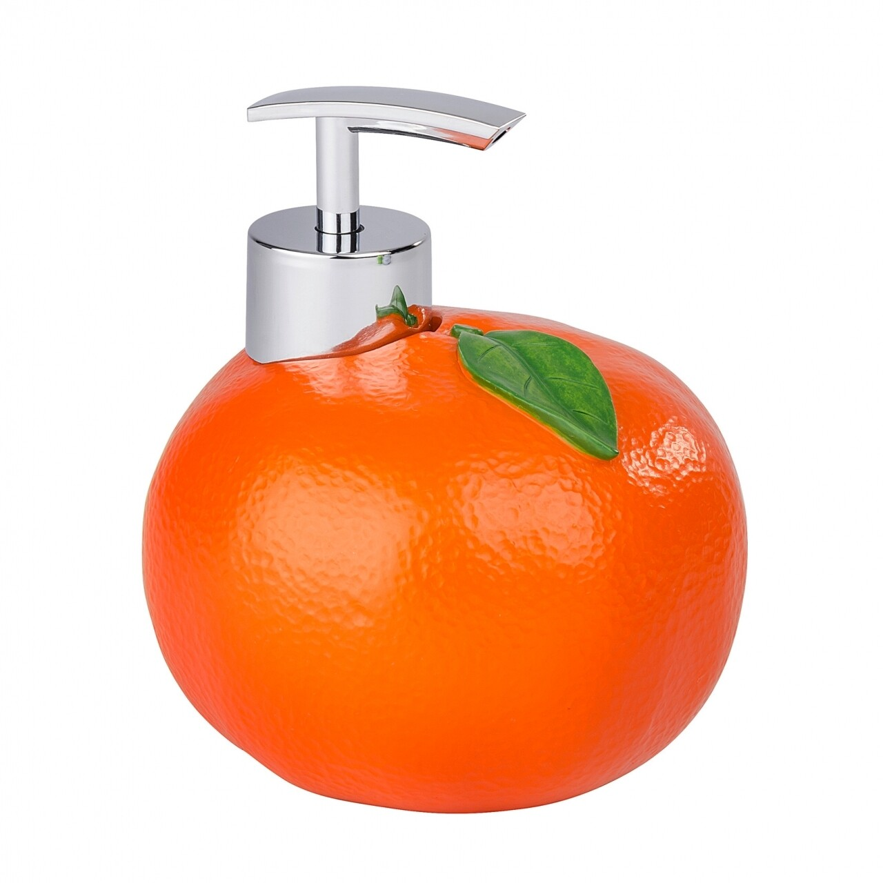 Dozator sapun Orange, Wenko, 11 x 12 cm, polirasina/ABS, portocaliu