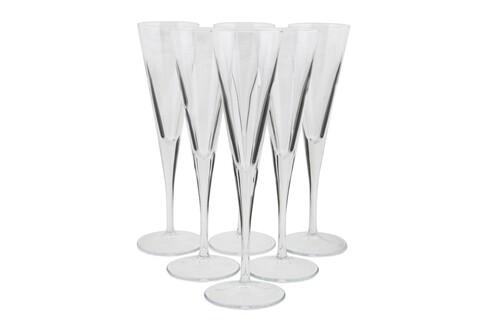 Set 6 pahare martini Fiore, Pasabahce, 24 x 7.5 x 7.5 cm, sticla, transparent