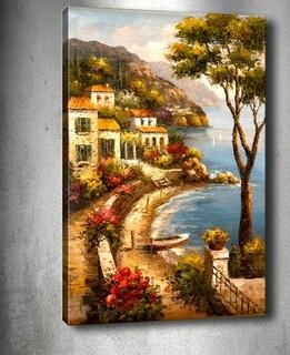 Tablou decorativ Tuscany, Tablo center, 40x60 cm, canvas, multicolor