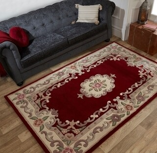 Covor Aubusson Red, Flair Rugs, 60 x 120 cm, lana, multicolor
