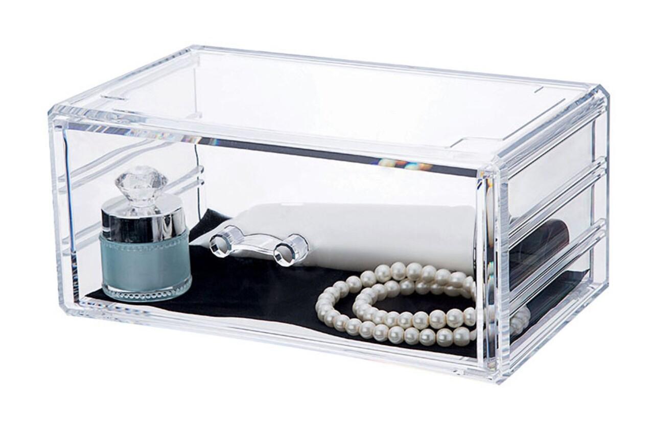 Organizator pentru bijuterii Stakable, Compactor, 1 compartiment, transparent
