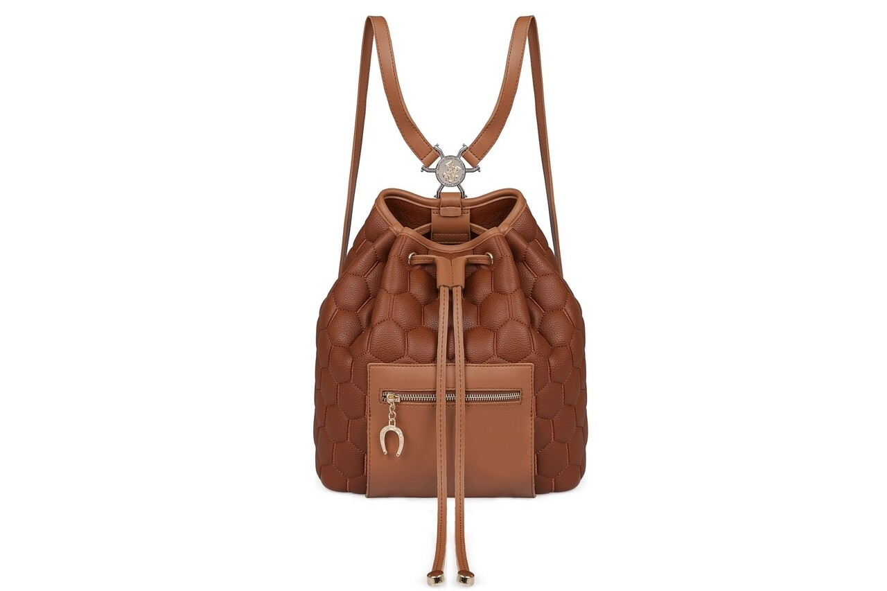 Rucsac Beverly Hills Polo Club, 711, piele ecologica, maro