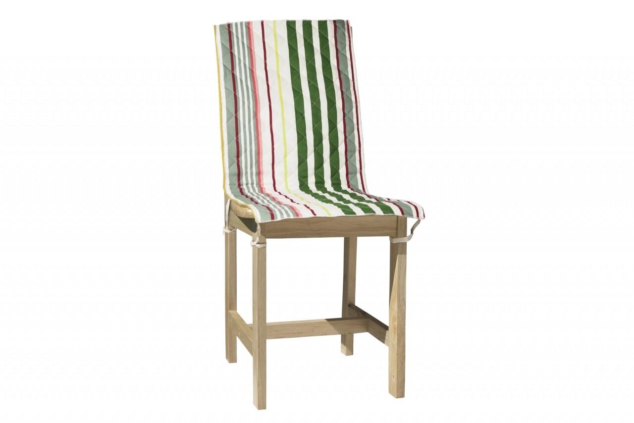 Husa spatar scaun 47x100 cm, Pink Stripes, 100% bumbac, roz
