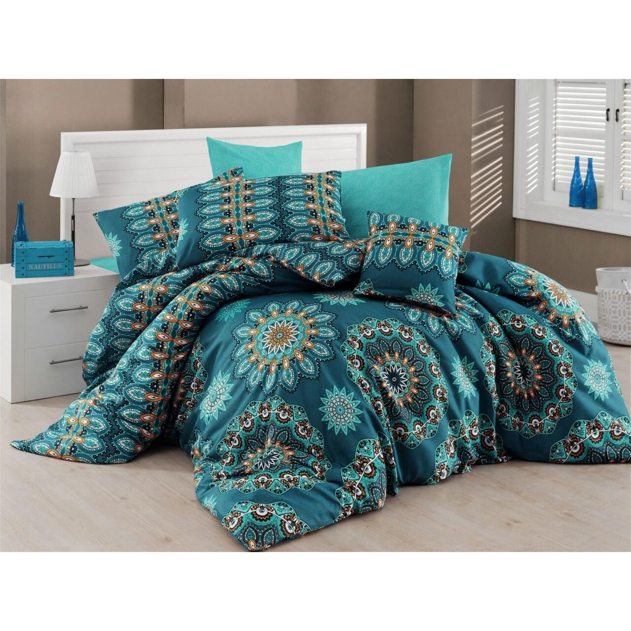 Lenjerie de pat double Hula Turquoise