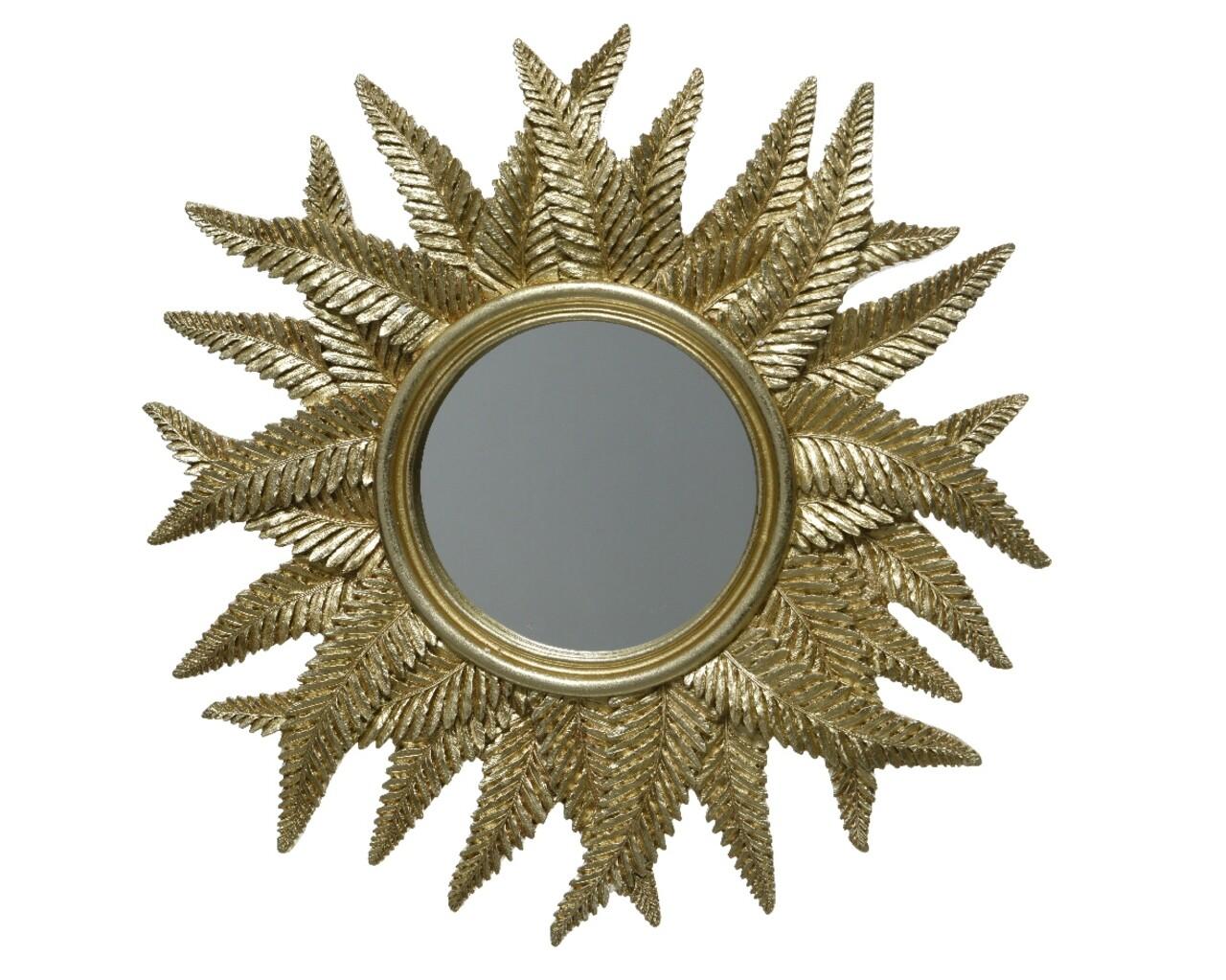 Oglinda Leaves, Decoris, 38 x 2.5 cm, auriu