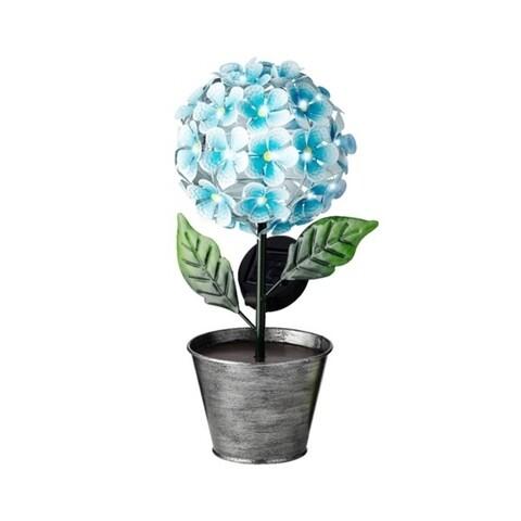 Lampa de gradina Flower, Lumineo, 18x14.5x34 cm, 36 led-uri, albastru