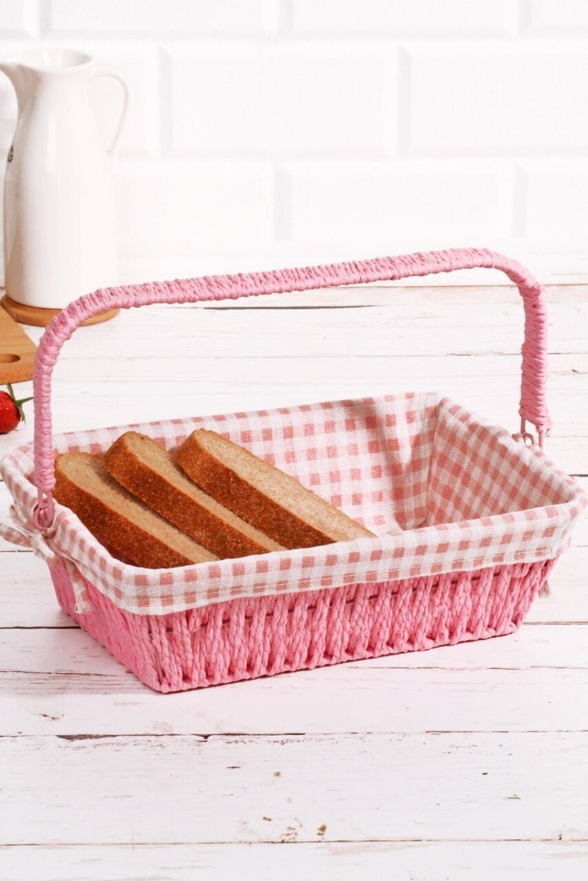 Cos pentru paine, Kosova,Pink White, 30x20x9 cm