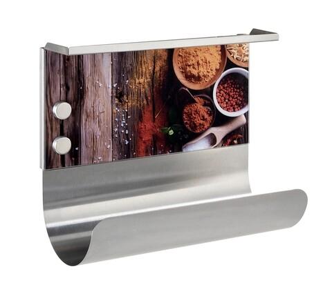 Suport magnetic pentru prosoape de bucatarie, Wenko, Spices, 26 x 30 cm, inox