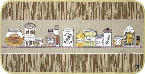 Covor pentru bucatarie, Olivo Tappeti, Carpet Queen 2, Jars, 55 x 270 cm, 80% bumbac, 20% poliester, multicolor