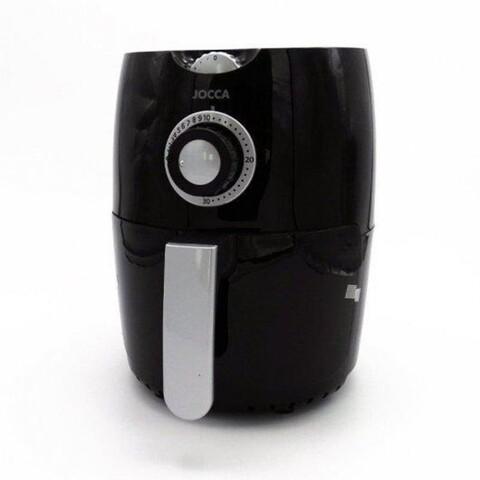 Friteuza cu aer cald pentru gatit fara ulei Jocca Black, 1000W, 31x25x26 cm, negru