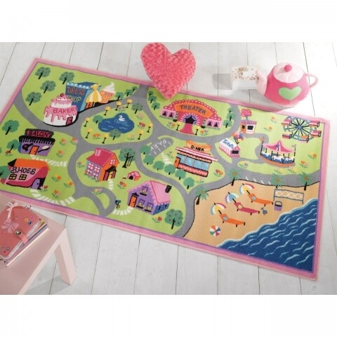 Covor Matrix Kiddy Girls World Multi 100X190 cm