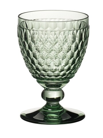 Set 4 pahare de vin rosu, Villeroy & Boch, Boston, 310 ml, sticla cristal, verde