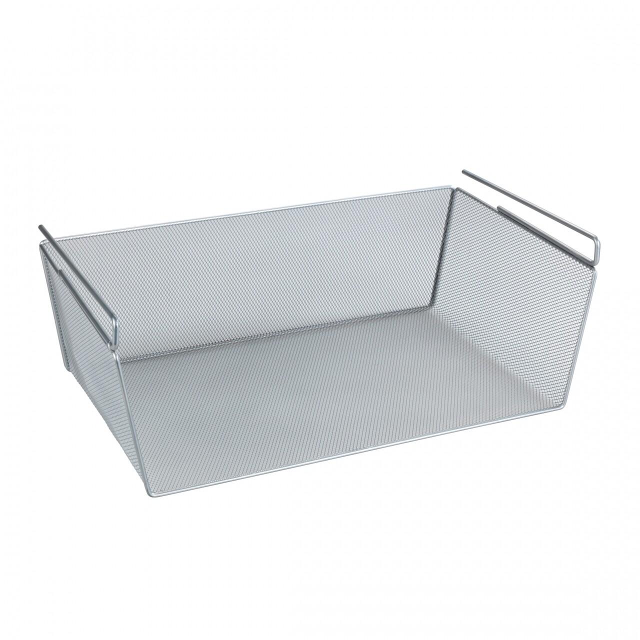 Cos suspendat multiuse Wenko, 49 x 18 x 28 cm, metal, argintiu