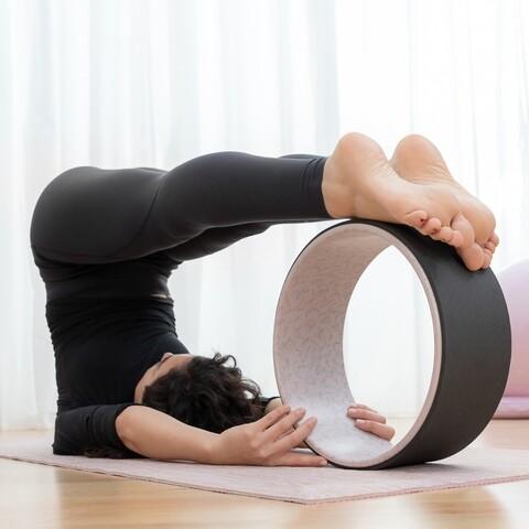 Roata pentru yoga Rodha InnovaGoods, Ø33 cm, cauciuc/ABS