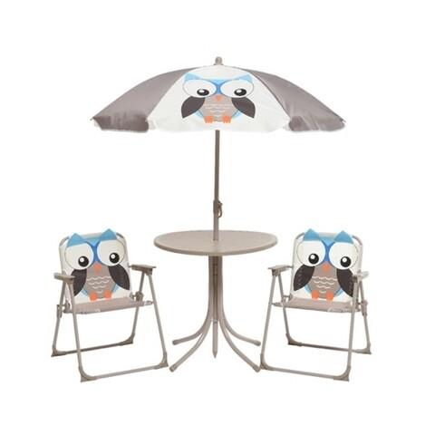 Set mobilier de gradina pentru copii Owl, Decoris, 4 piese, multicolor