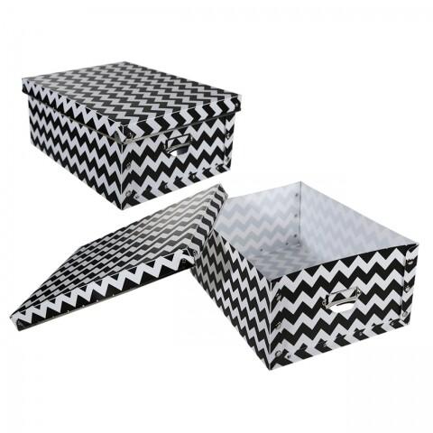 Cutie pentru depozitare pliabilă Black and White