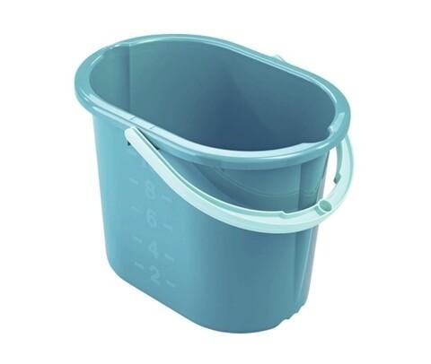 Galeata pentru mop, Leifheit Picobello, 10 L, plastic, verde