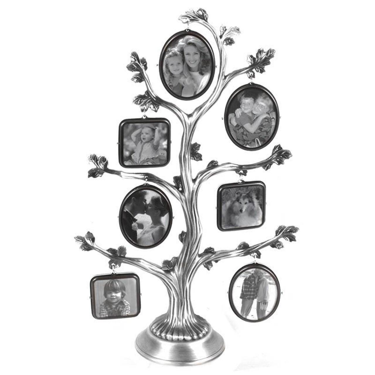 Rama foto Silver Tree, InArt, 16 x 25 cm, aluminiu/sticla, argintiu