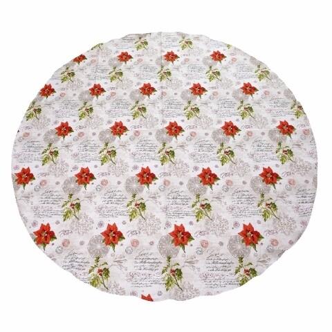 Față de masă rotundă Romantico Natale 180 cm