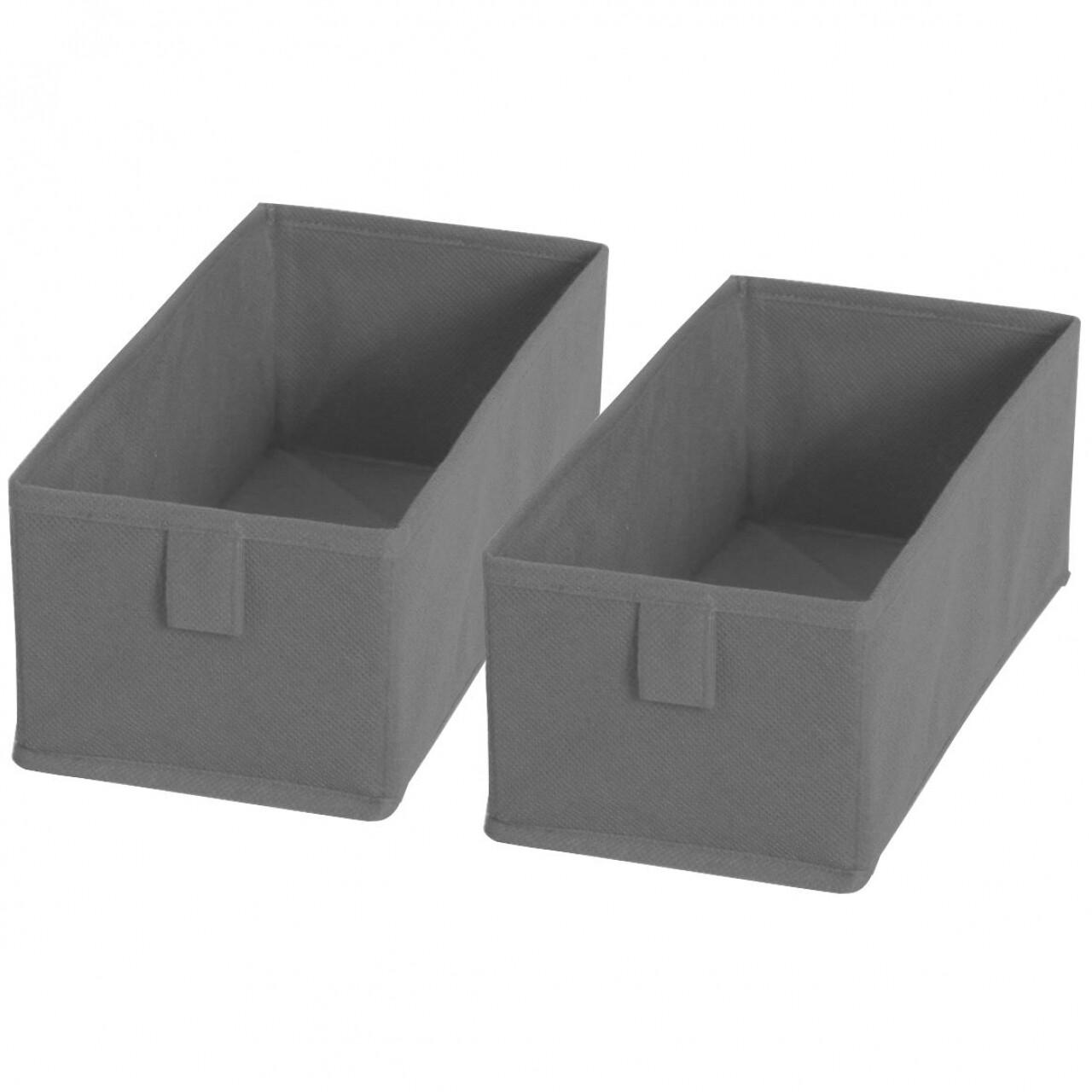 Set 2 cutii de depozitare Jocca Grey
