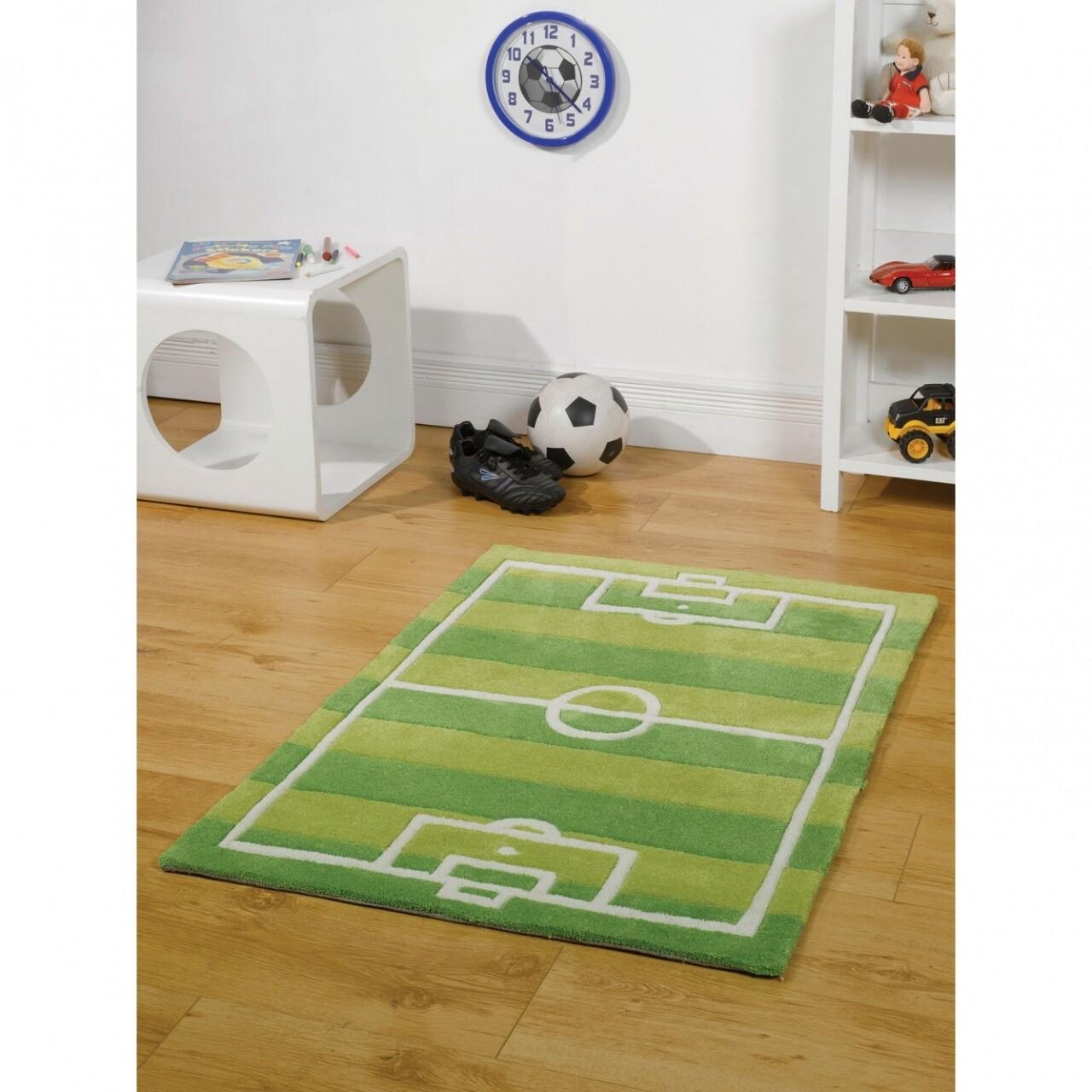 Covor Kiddy Play Football Pitch Green 70X100 cm