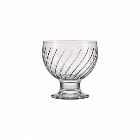Cupa cu picior pentru desert Nadir Clube, sticla rezistenta, 400 ml